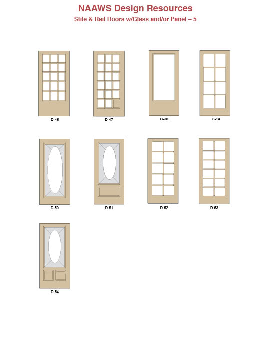 Stile & Rail Doors w/Glass and/or Panel – 5